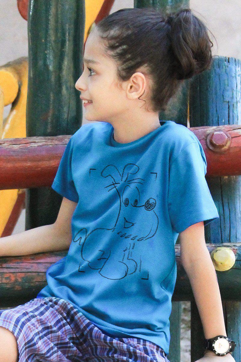 Camiseta Infantil Mauricio de Sousa 80 Anos Bidu