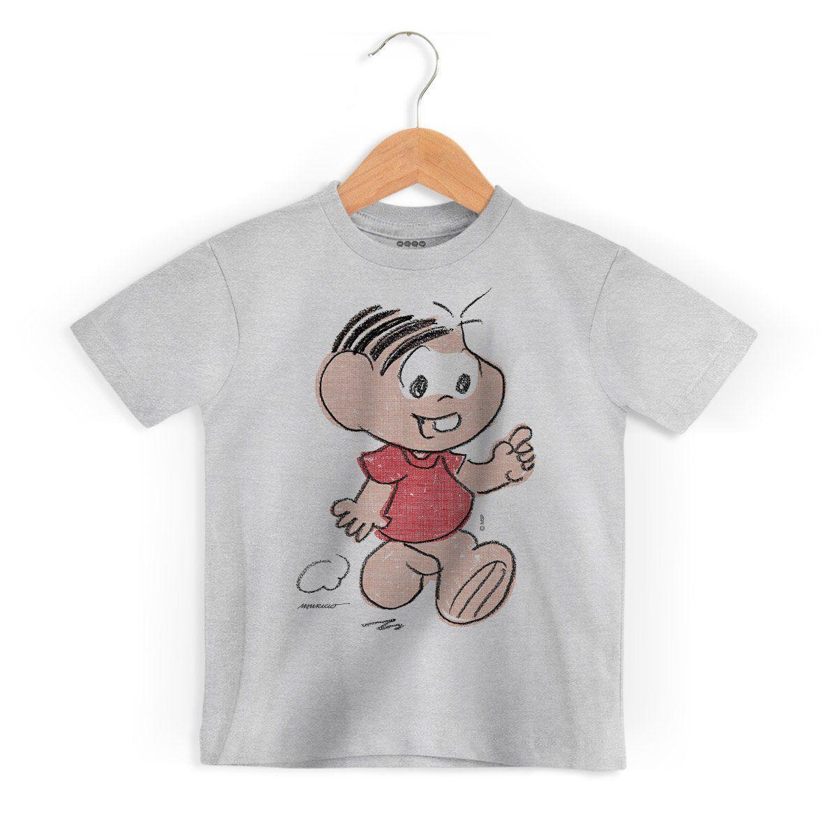 Camiseta Infantil Mauricio de Sousa 80 Anos Mônica