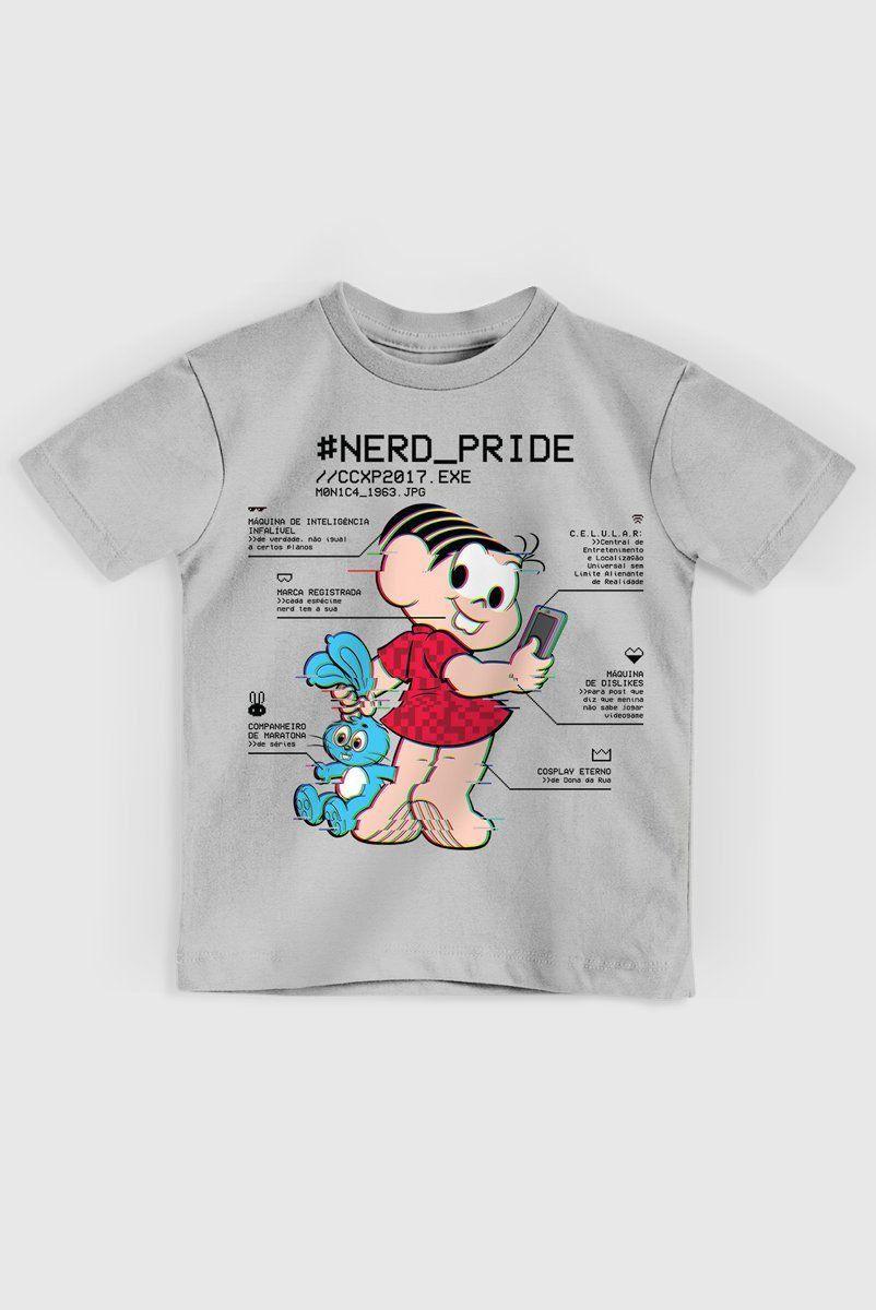 Camiseta Infantil Mônica Nerd Pride