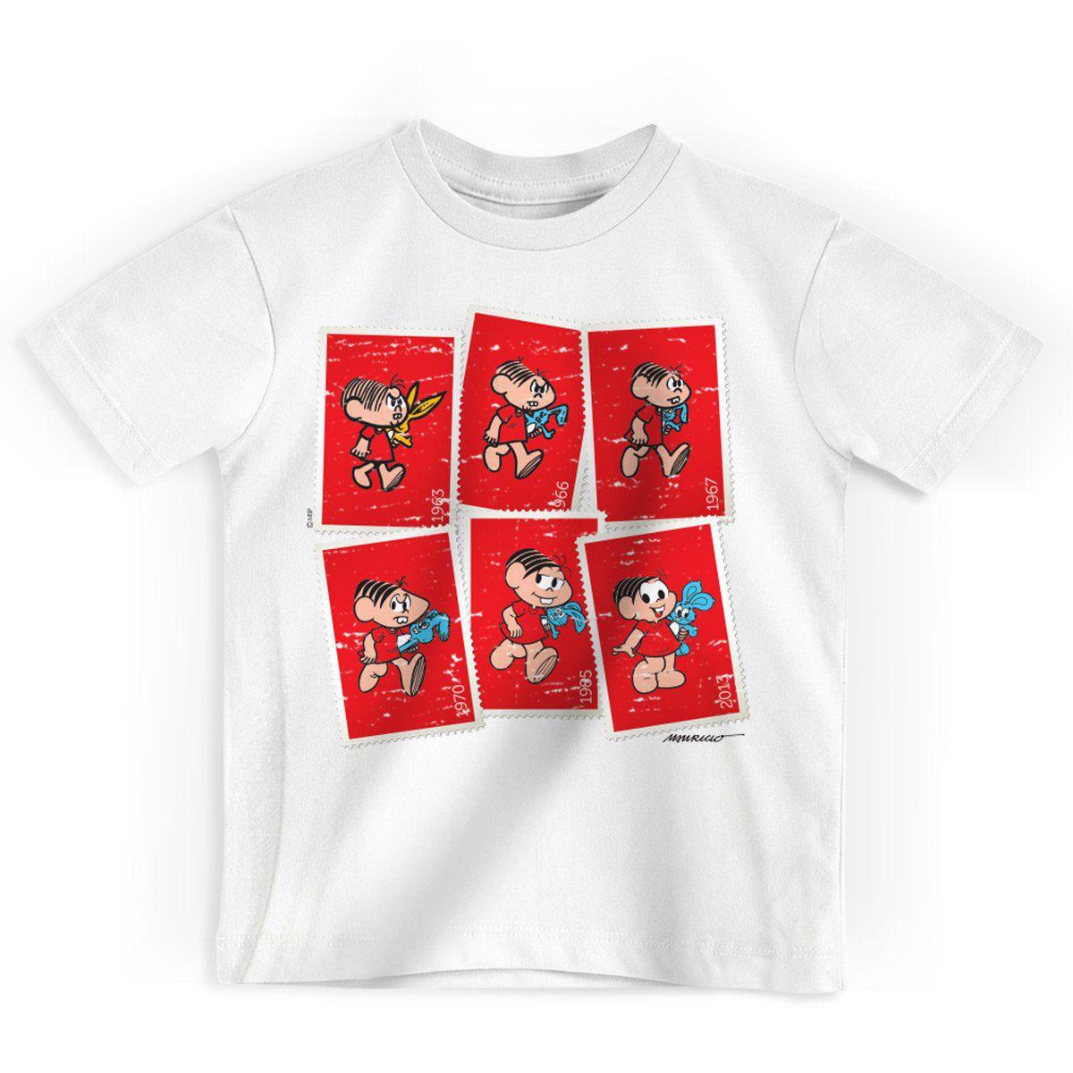 Camiseta Infantil Turma da Mônica 50 Anos Evolução Modelo 4
