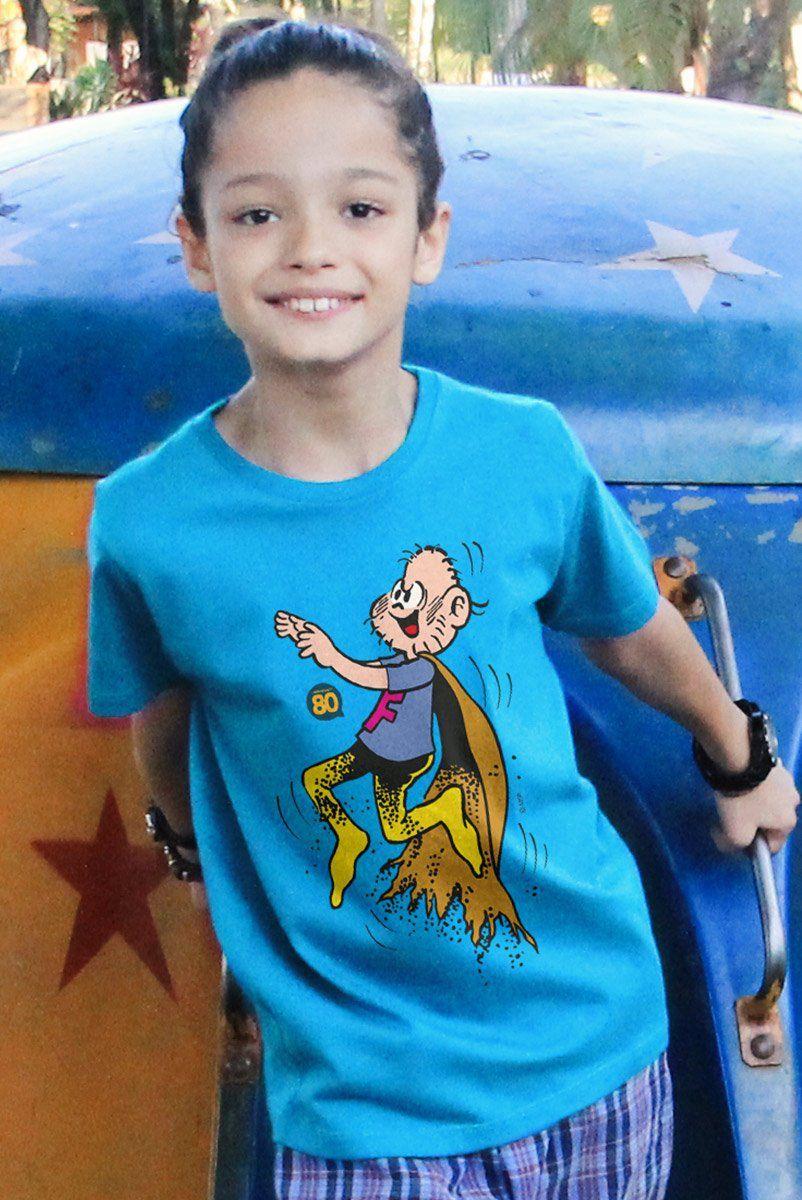 Camiseta Infantil Turma da Mônica Capitão Feio