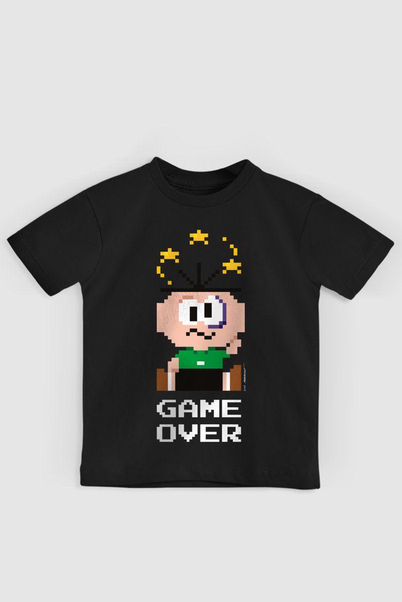 Camiseta Infantil Turma da Mônica Cebolinha Game Over