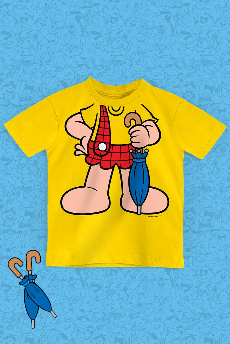 Camiseta Infantil Turma da Mônica Corpinho Cascão