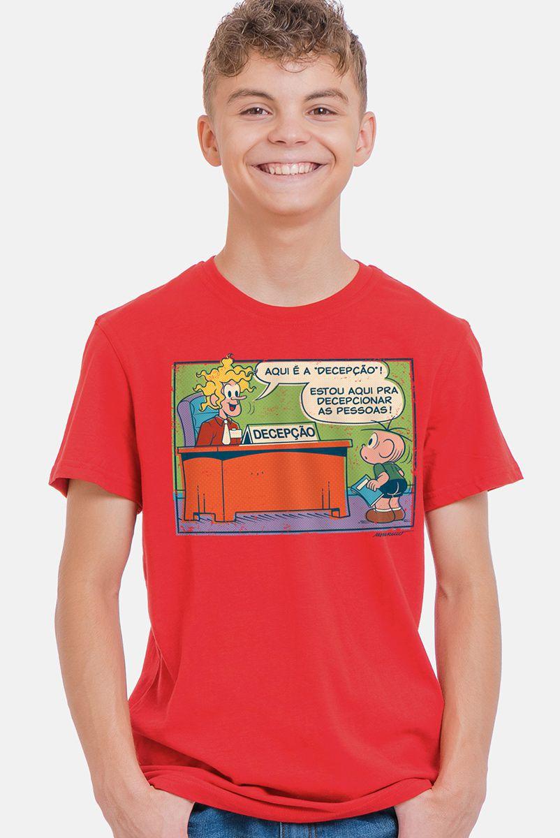 Camiseta Infantil Turma da Mônica Decepção