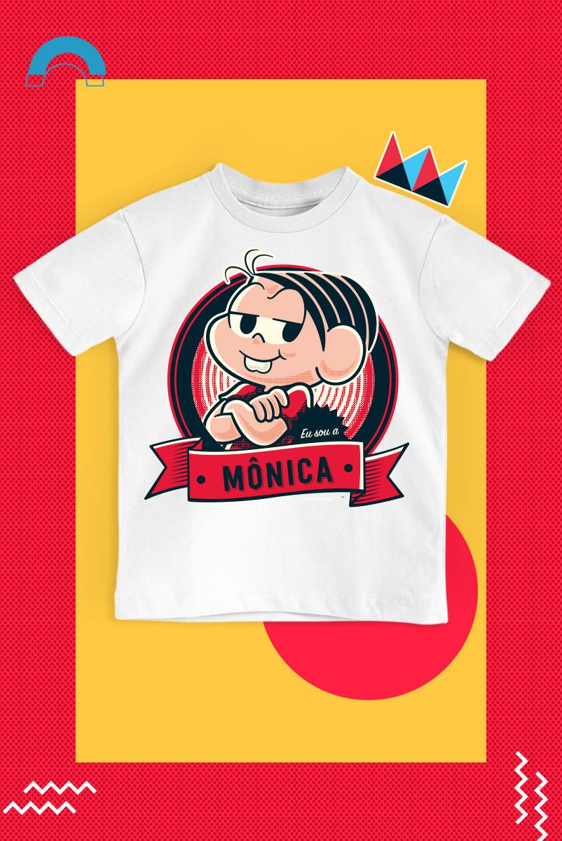Camiseta Infantil Turma da Mônica Dona da Rua