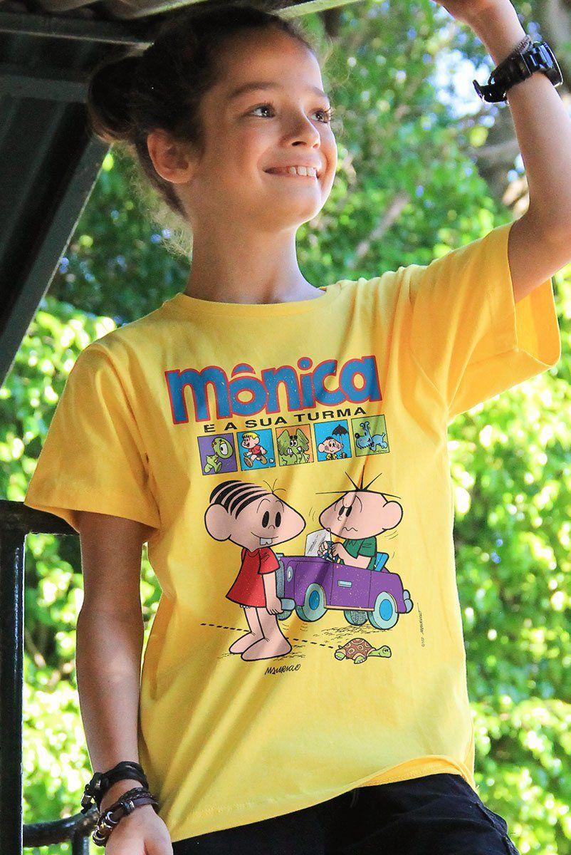 Camiseta Infantil Turma da Mônica Gibi