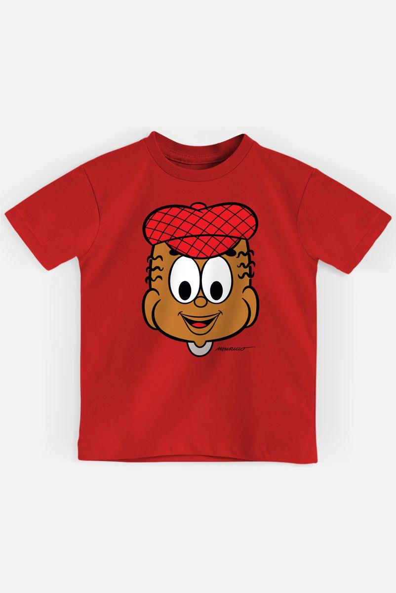 Camiseta Infantil Turma da Mônica Jeremias Rostinho