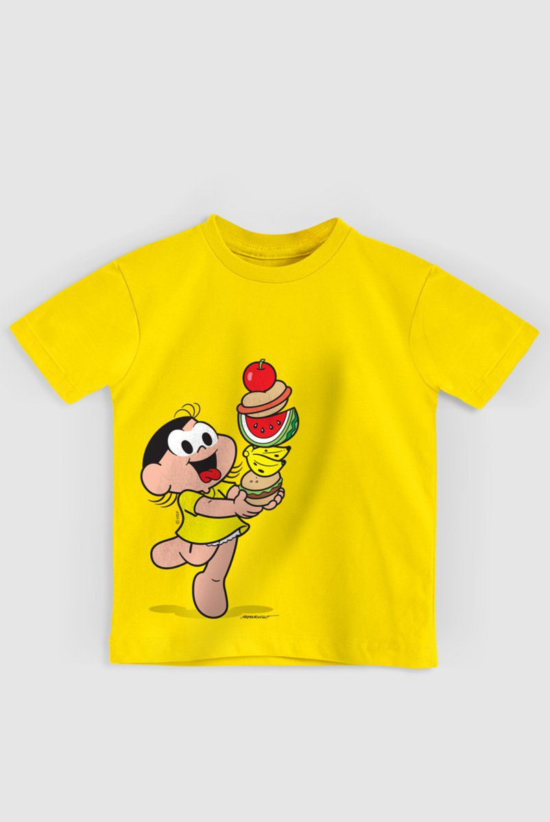 Camiseta Infantil Turma Da Mônica Magali Super Lanche