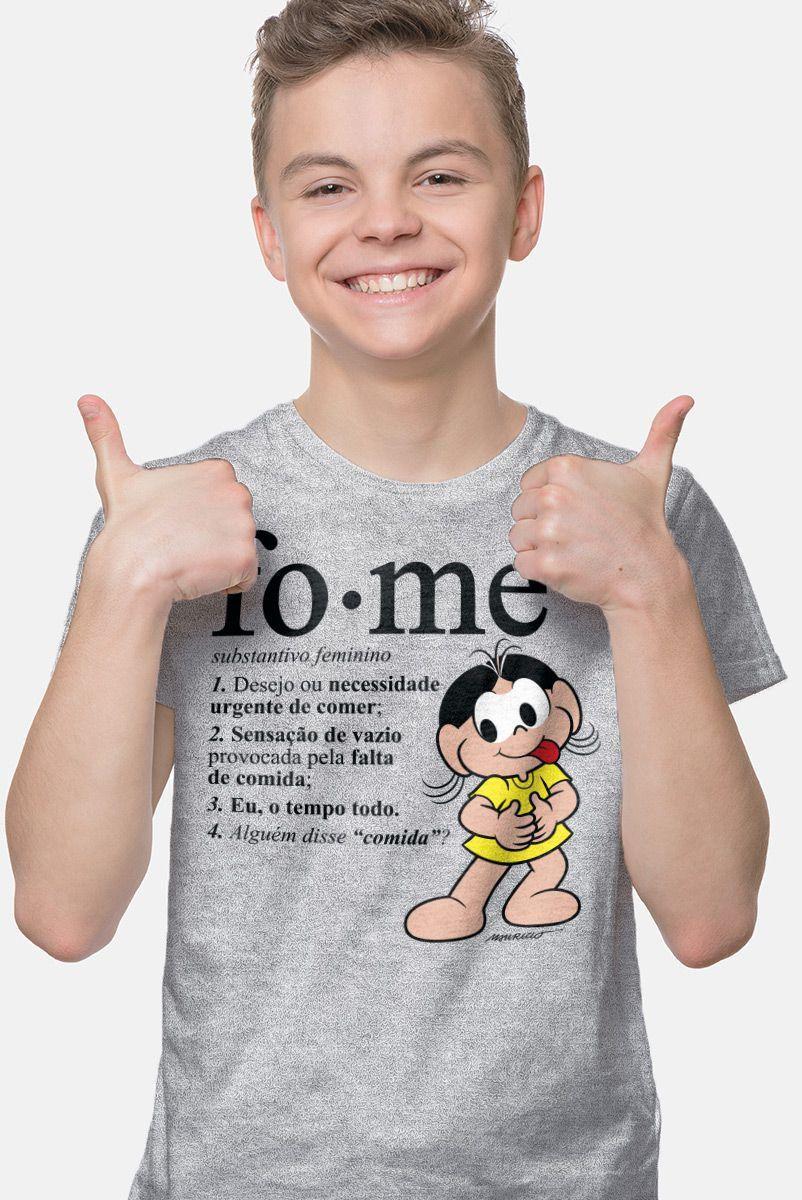 Camiseta Infantil Turma da Mônica Magali Fome