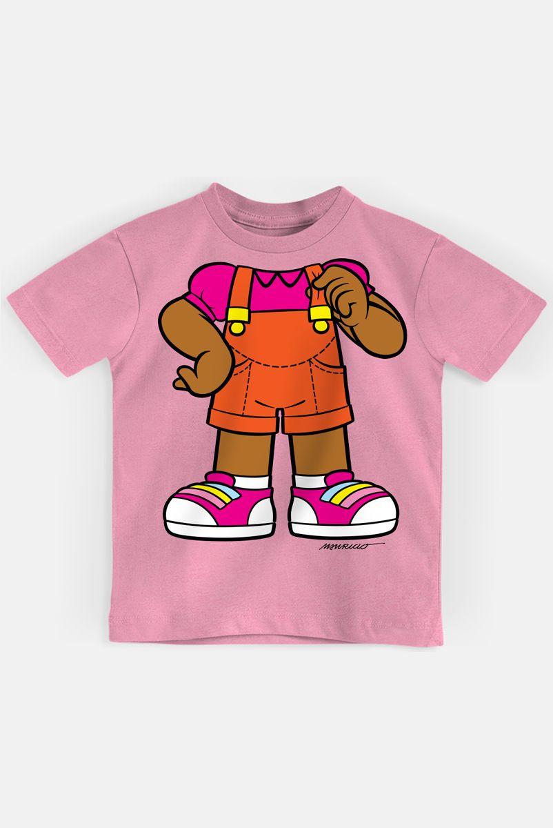 Camiseta Infantil Turma da Mônica Milena Corpinho