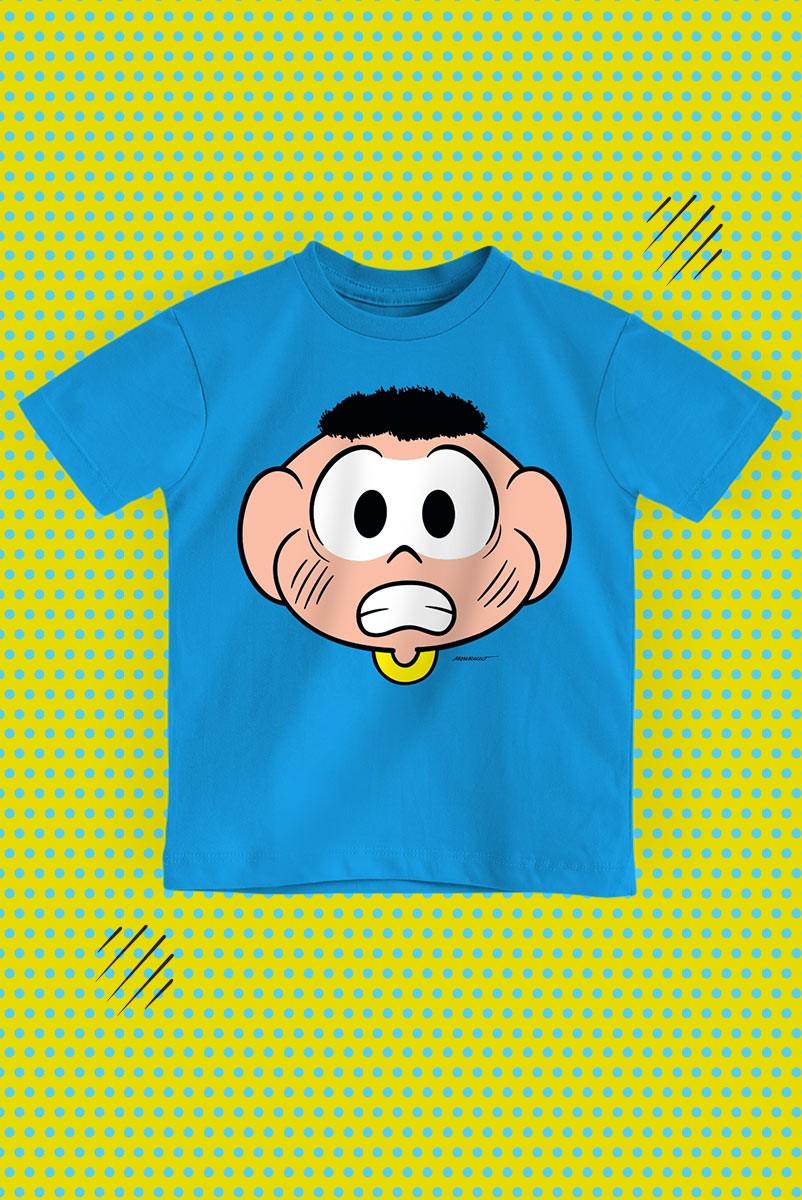 Camiseta Infantil Turma da Mônica Rostinho Cascão