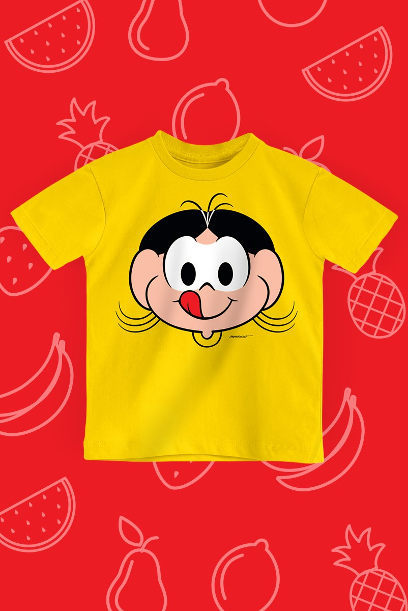 Camiseta Infantil Turma da Mônica Rostinho Magali
