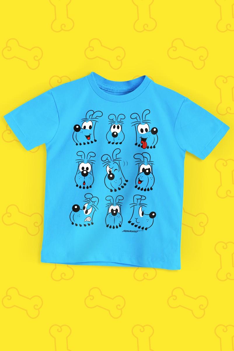 Camiseta Infantil Turma da Mônica Rostinhos Bidu
