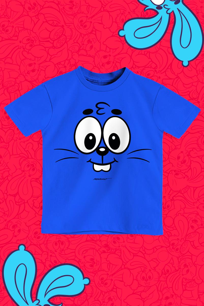 Camiseta Infantil Turma da Mônica Sansão Boquinha