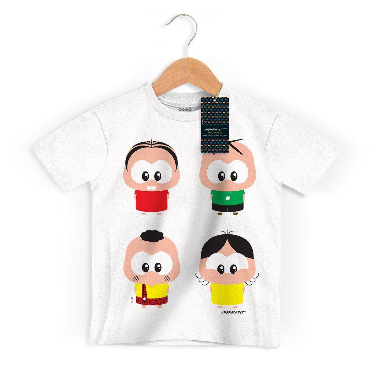 NÃO USAR Camiseta Infantil Turma da Mônica Toy A Turma Toy
