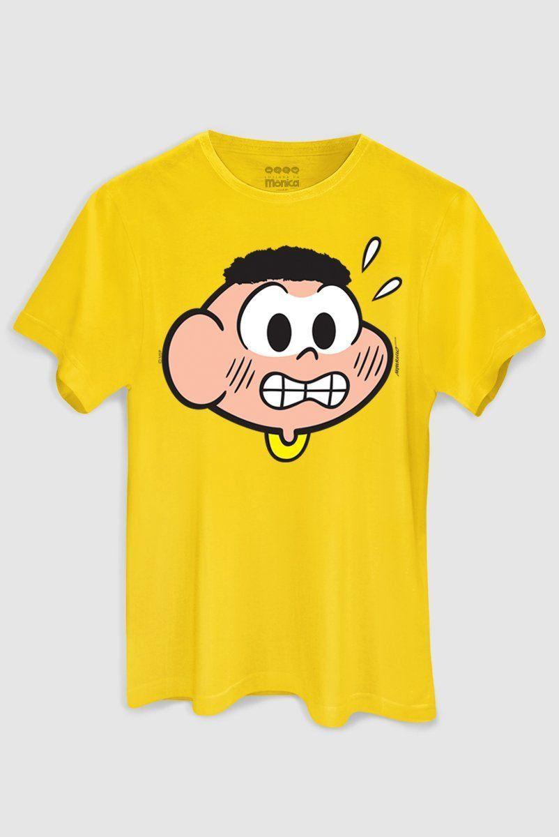 Camiseta Infanto Juvenil Kids Face Cascão