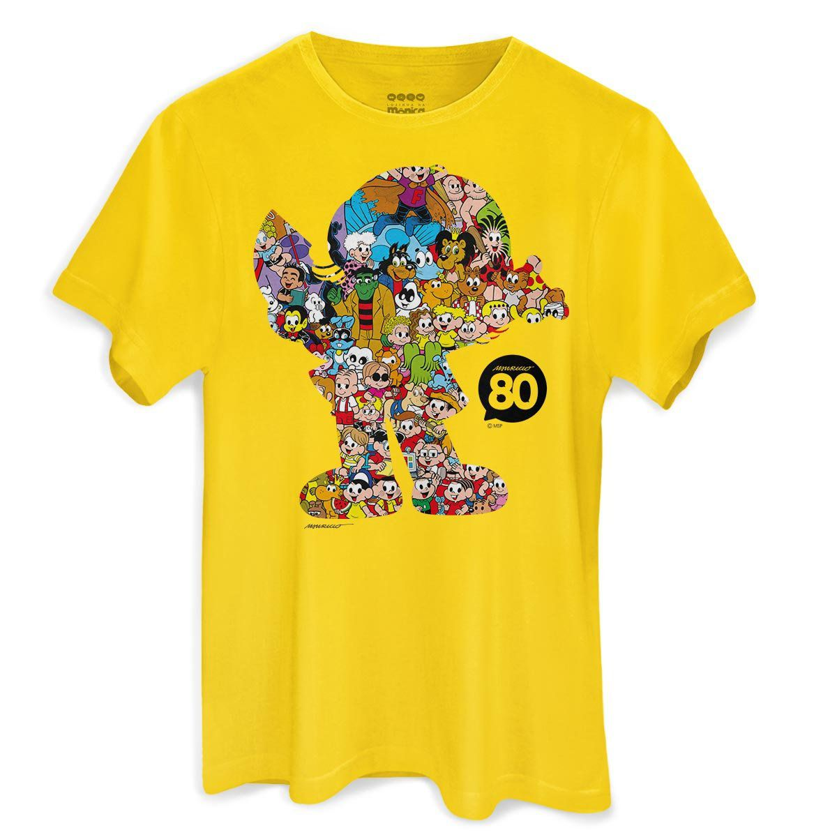 Camiseta Masculina Maurício de Sousa 80 Anos Magali