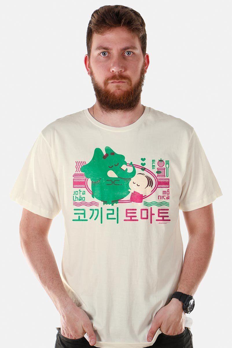 Camiseta Masculina Mônica e Jotalhão