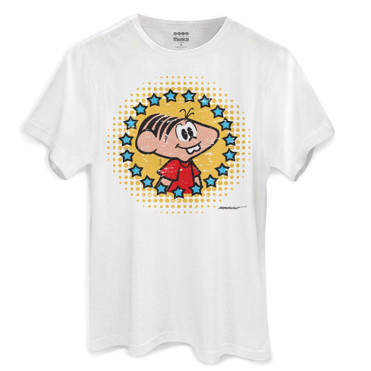 Camiseta Masculina Turma da Mônica 50 Anos Evolução Modelo 5