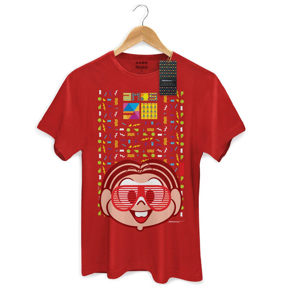 Camiseta Masculina Turma da Monica 50 Anos Modelo 2 Anos 90