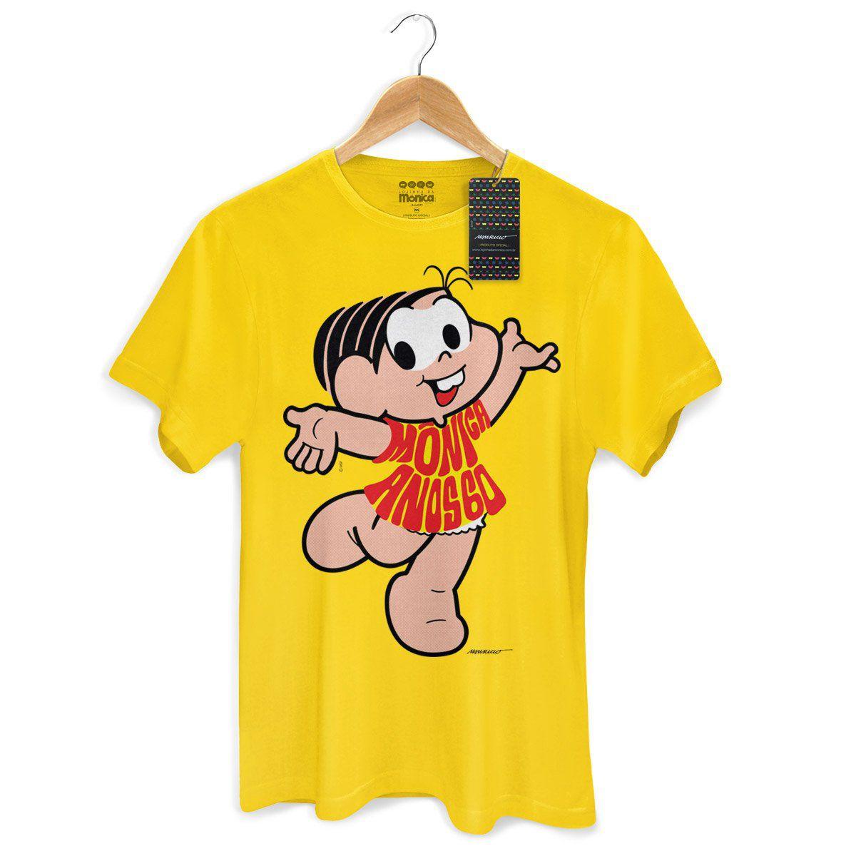 Camiseta Masculina Turma da Mônica 50 Anos Modelo 5 Anos 60