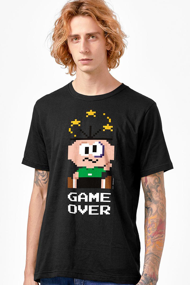 Camiseta Masculina Turma da Mônica Cebolinha Game Over