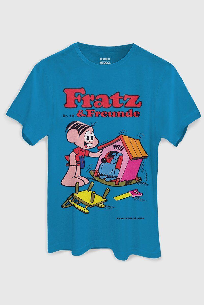 Camiseta Masculina Turma da Mônica Fratz & Freunde