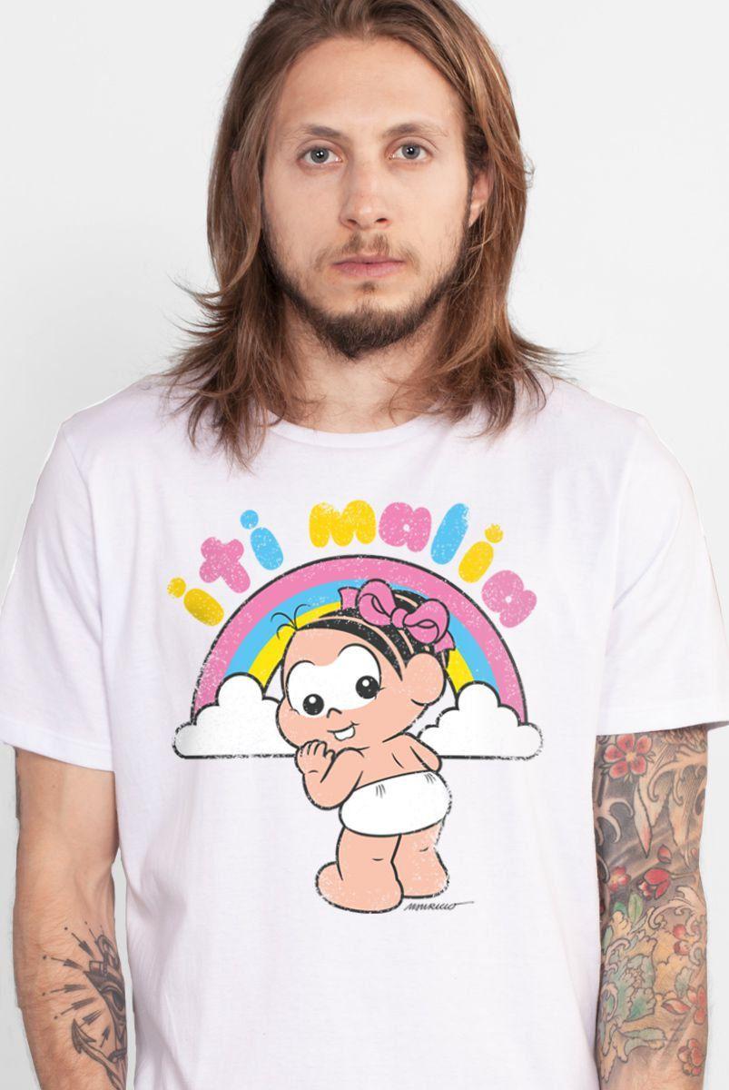 Camiseta Masculina Turma da Mônica Iti Malia
