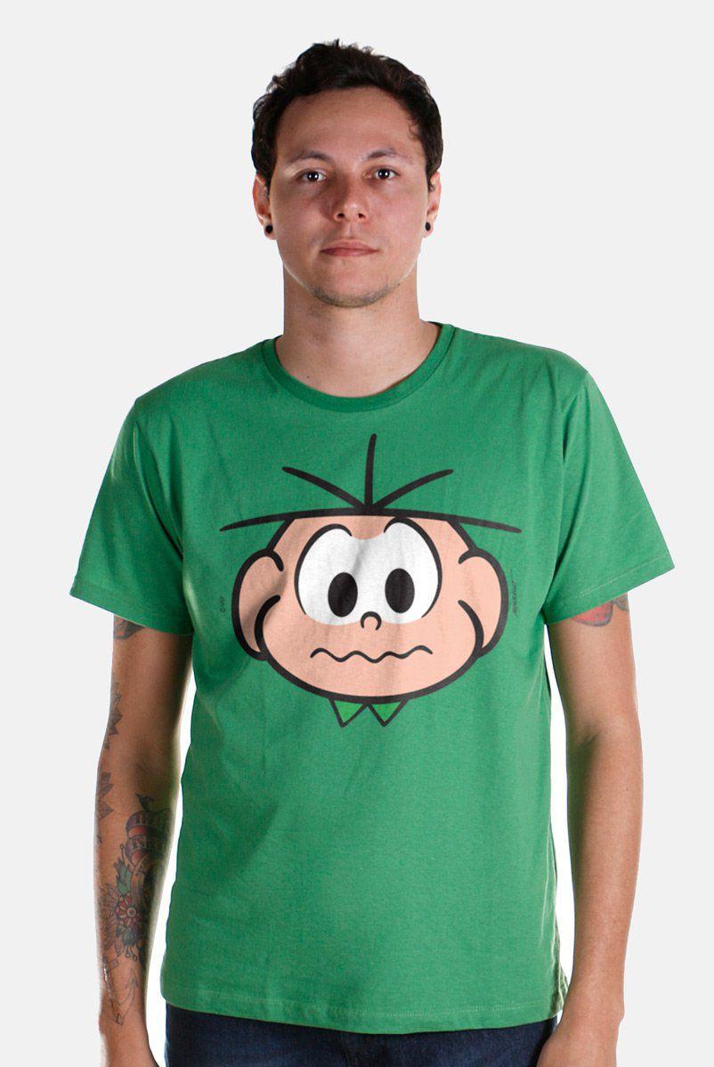 Camiseta Masculina Turma Da Mônica Face Cebolinha