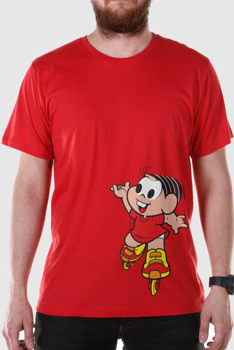 Camiseta Masculina Turma Da Mônica Mônica Roller