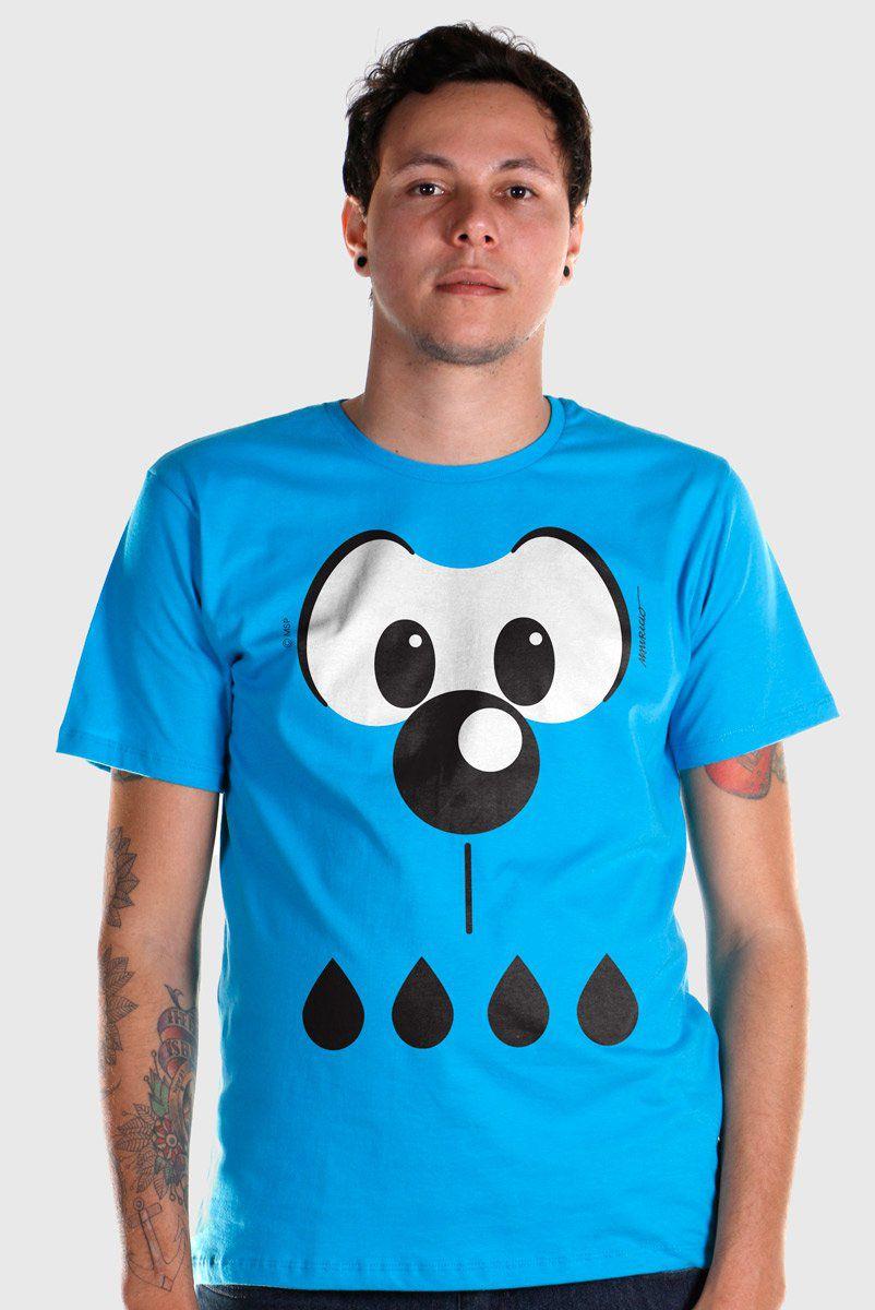 Camiseta Masculina Turma Da Mônica Olhões Bidu