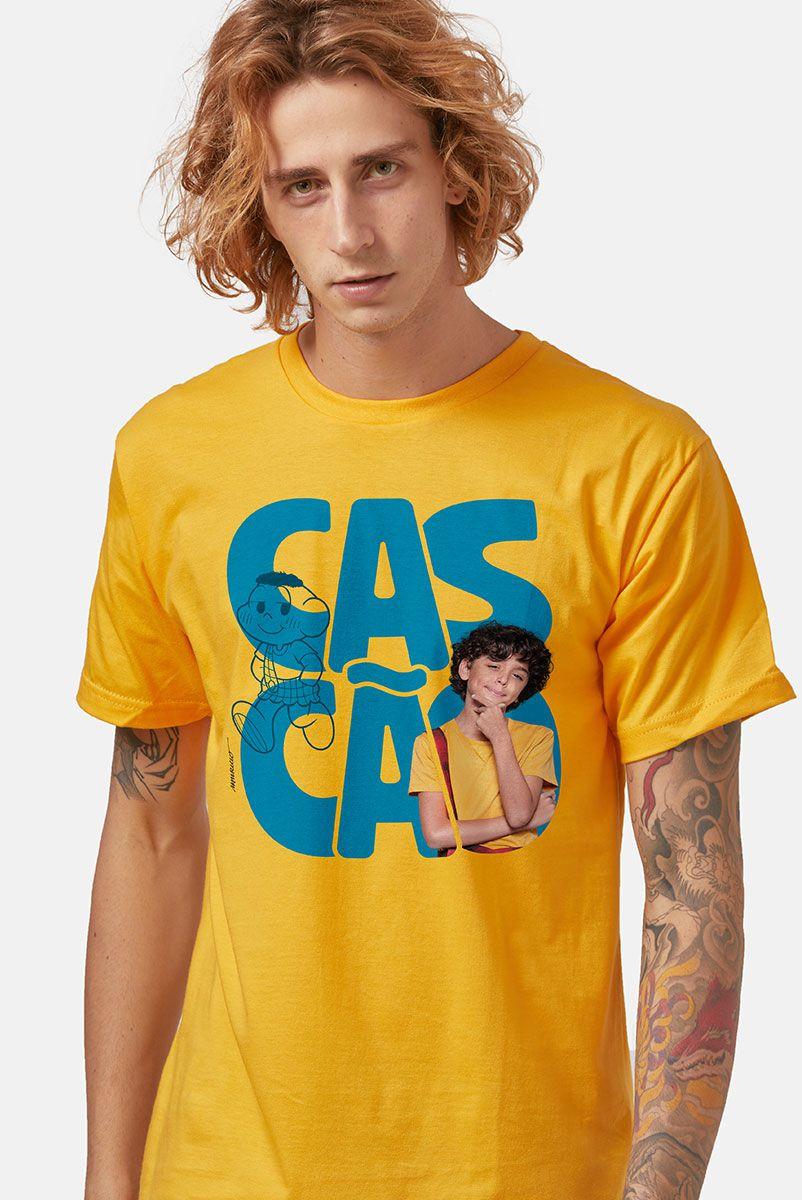Camiseta Masculina Turma da Mônica Laços Cascão