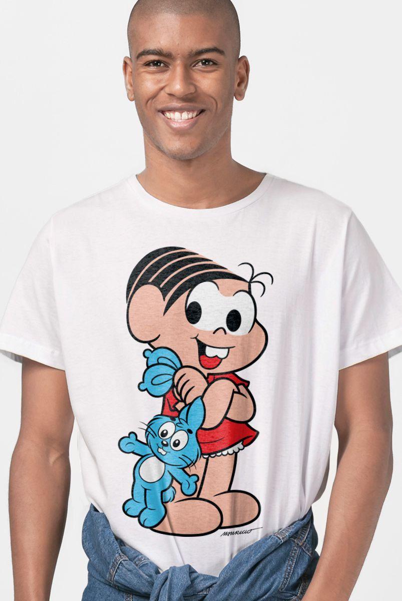 Camiseta Masculina Turma da Mônica Mônica Clássica