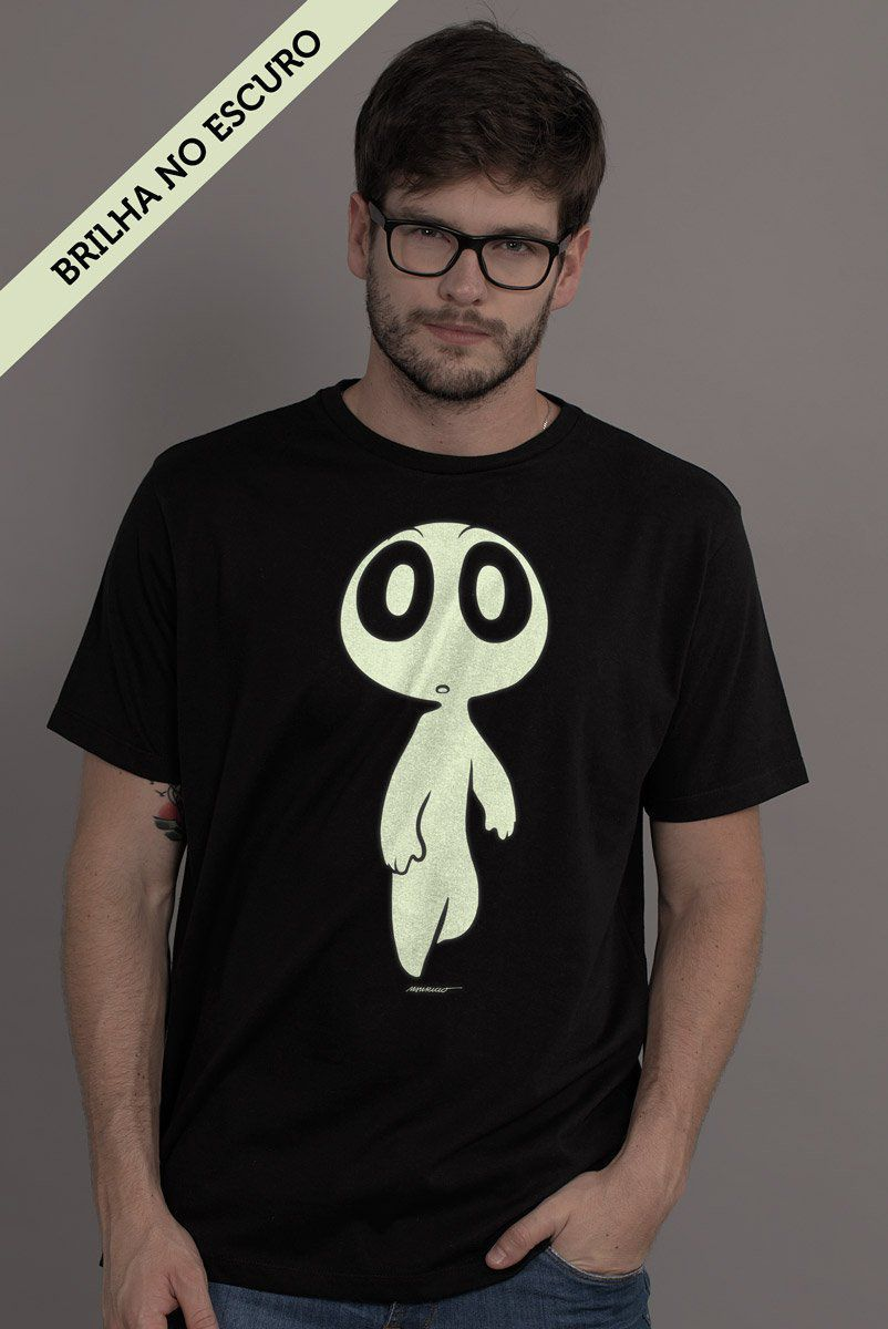 Camiseta Masculina Turma da Mônica Penadinho Brilha no Escuro