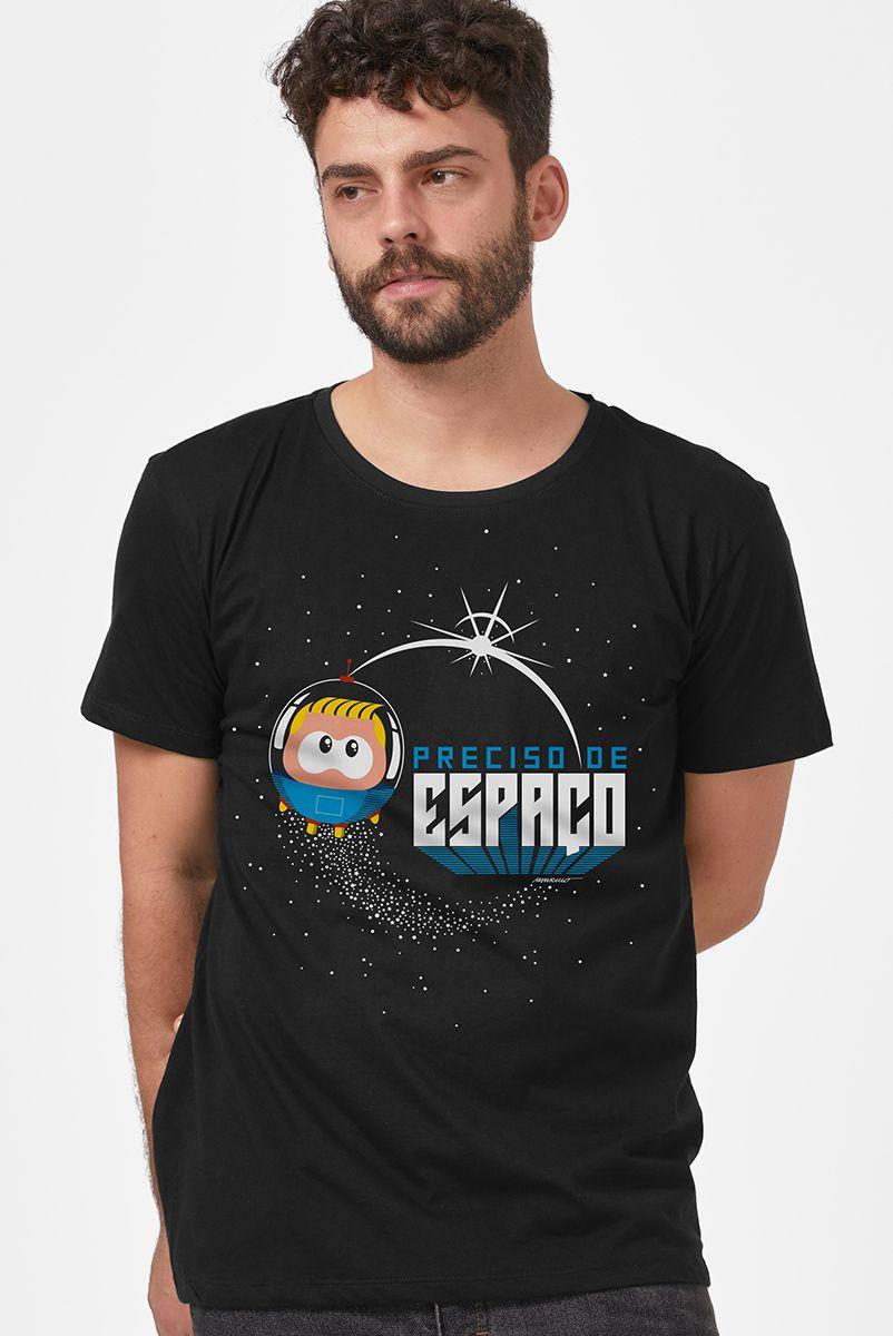 Camiseta Masculina Turma da Mônica Toy Astronauta Preciso de Espaço