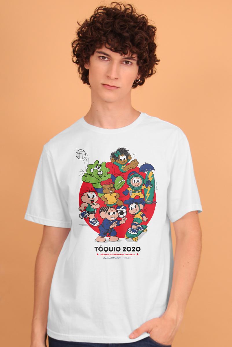 Camiseta Masculina Turma da Mônica Tóquio 2020