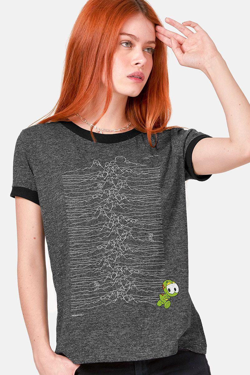 Camiseta Ringer Feminina Turma da Mônica Horácio Unknown