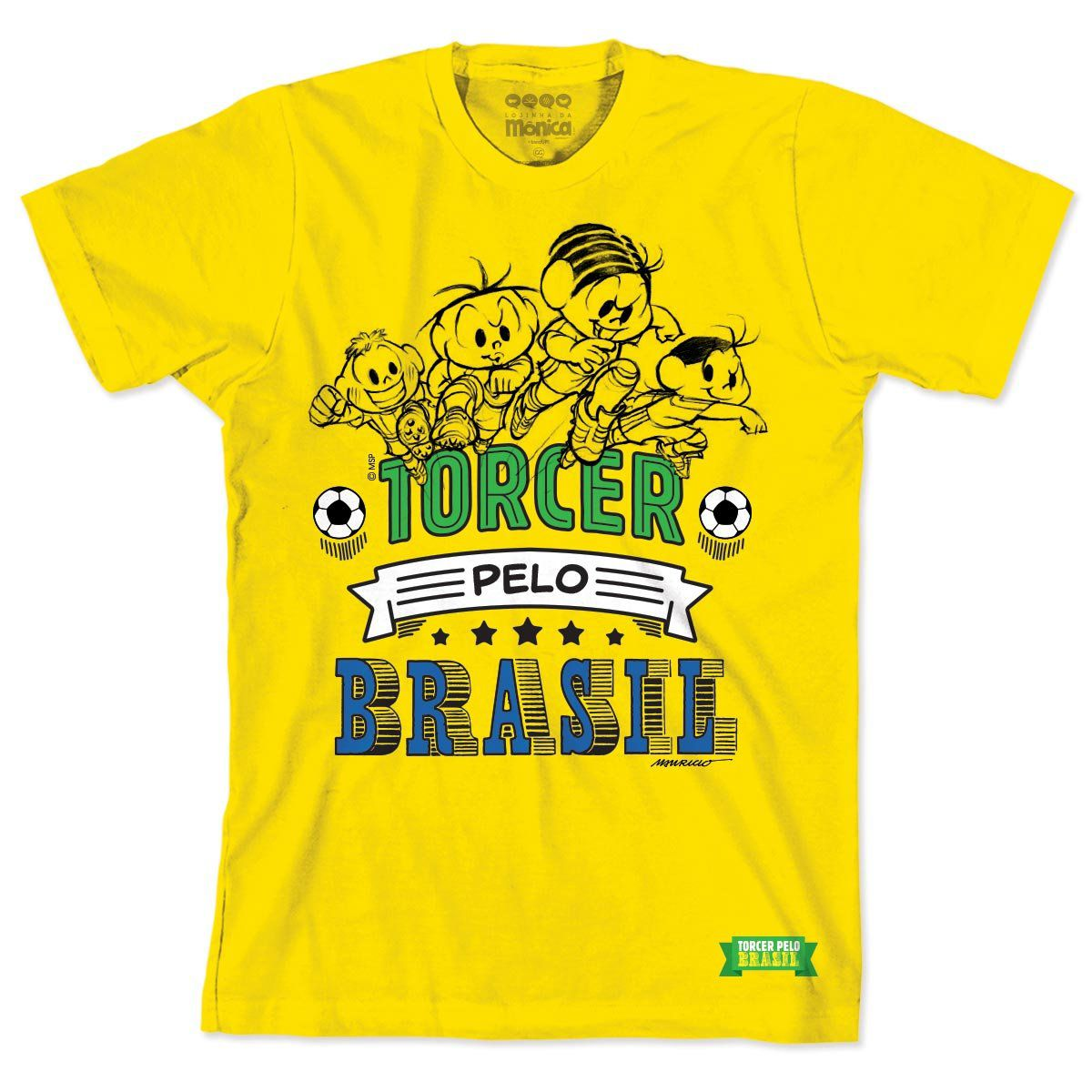 Camiseta Turma da Mônica A Turma Jogando 2
