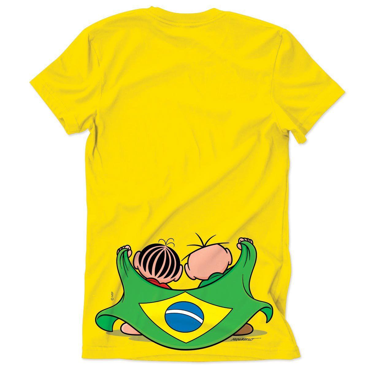 Camiseta Turma da Mônica Brasão Turma