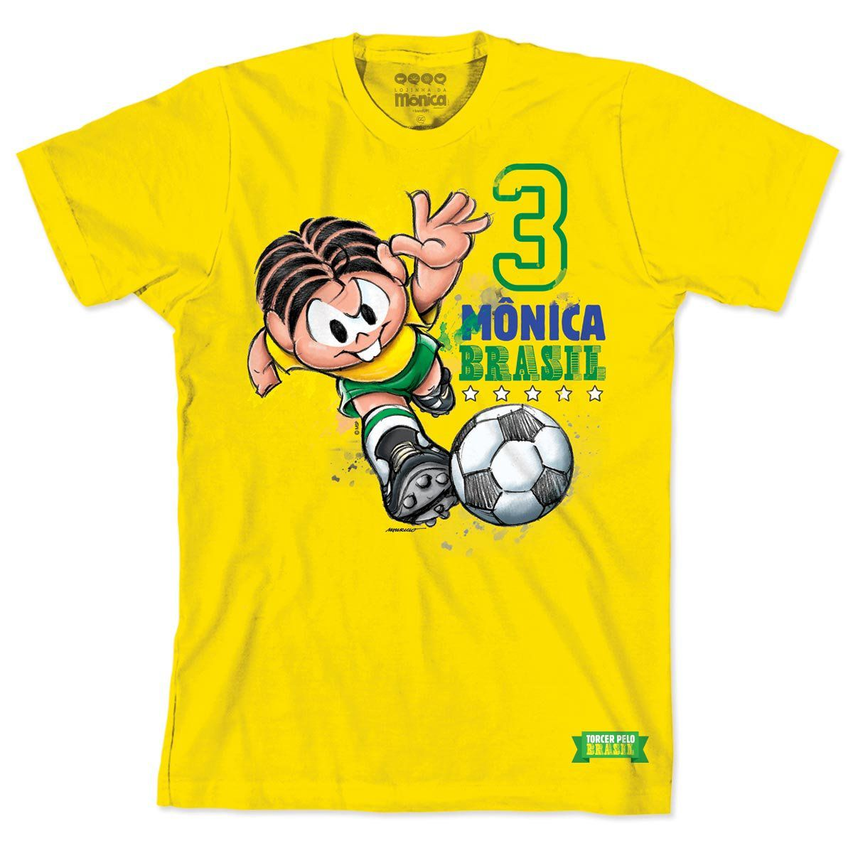 Camiseta Turma da Mônica Jogadora Mônica 2