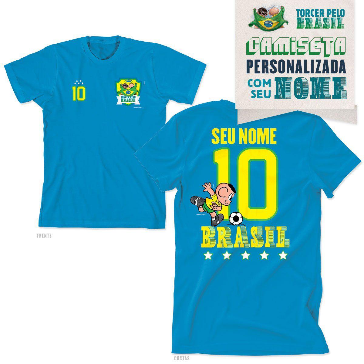 Camiseta Turma da Mônica Personalizada Eu Sou Camisa 10