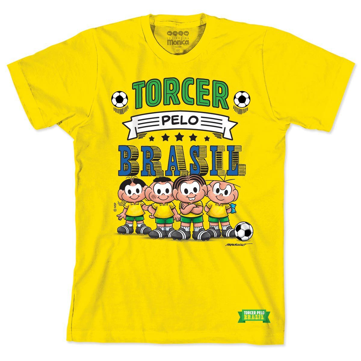 Camiseta Turma da Mônica Seleção da Mônica