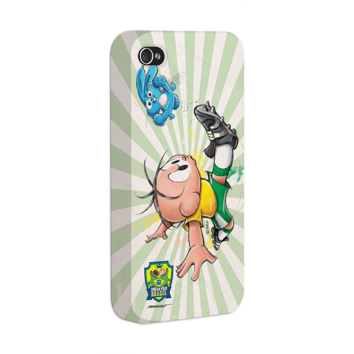 Capa de iPhone 4/4S Turma da Mônica Jogador Cebolinha