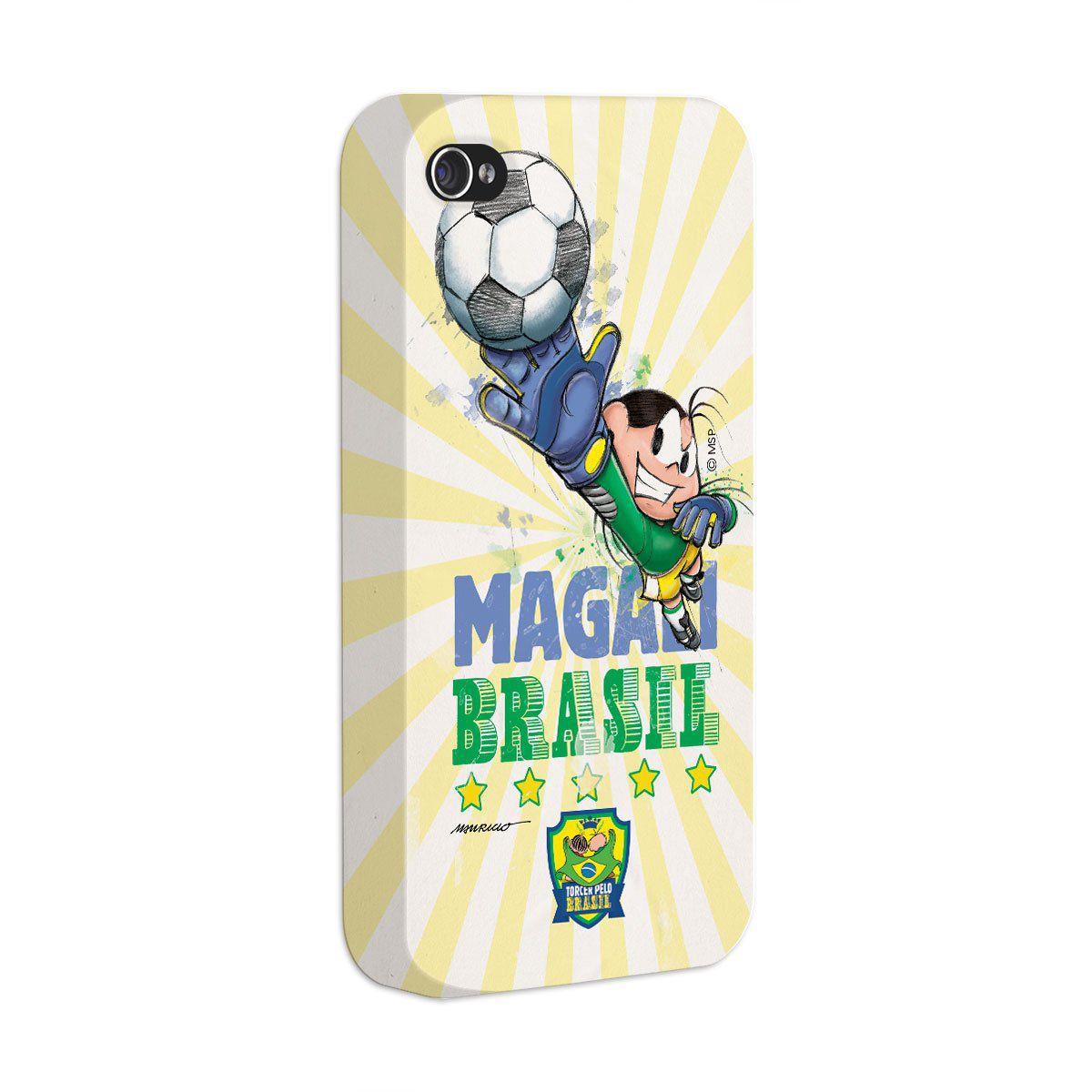 Capa de iPhone 4/4S Turma da Mônica Jogadora Magali 2