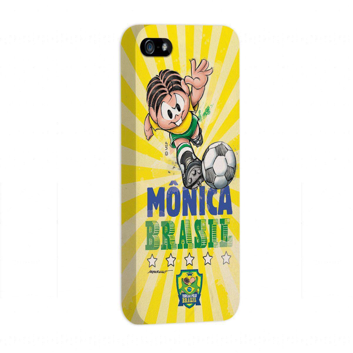 Capa de iPhone 5/5S Turma da Mônica Jogadora Mônica 2