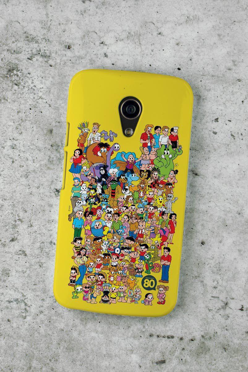 Capa para Motorola Moto G 2 Mauricio de Sousa 80 Anos