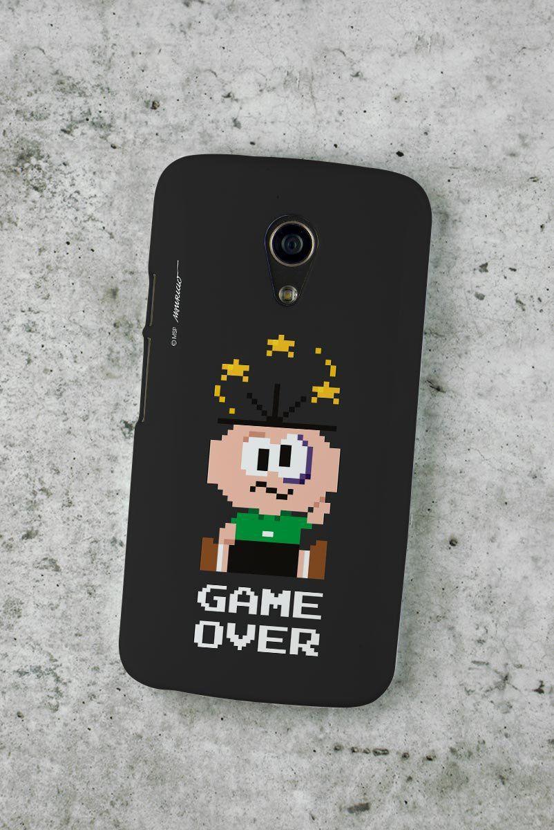 Capa para Motorola Moto G 2 Turma da Mônica Cebolinha Game Over