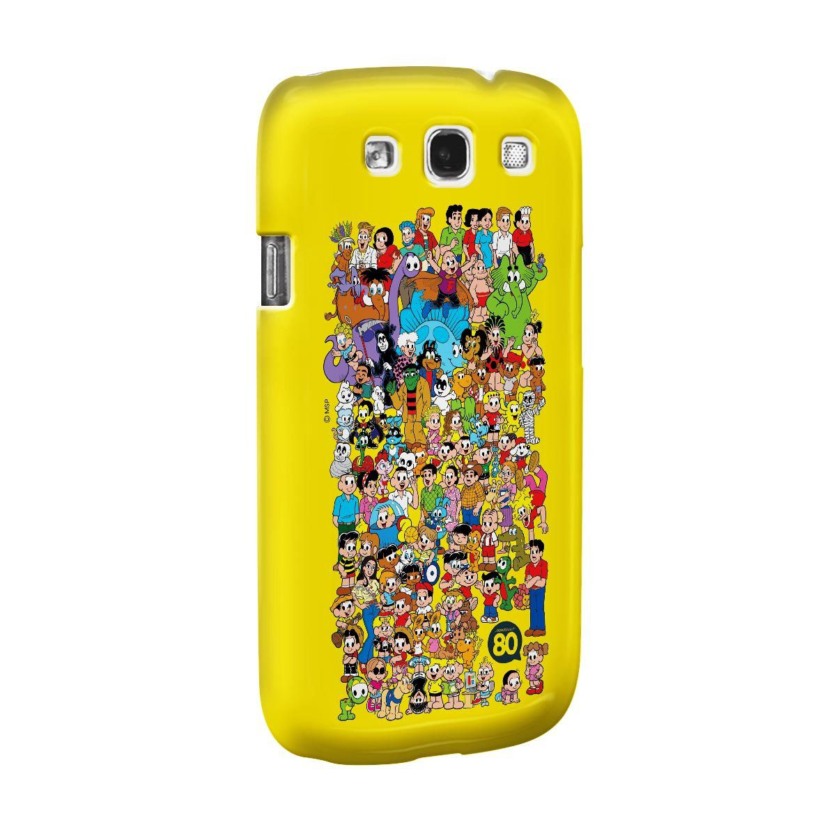 Capa para Samsung Galaxy S3 Maurício de Sousa 80 Anos