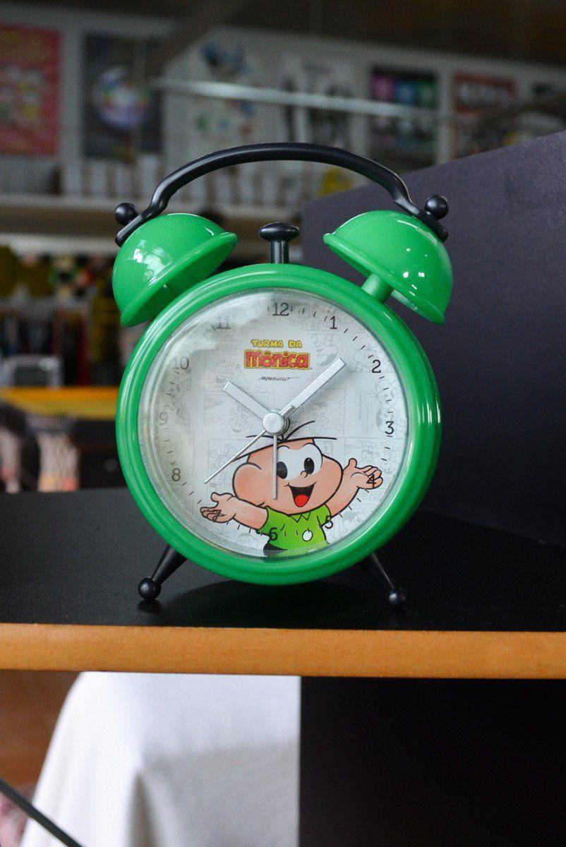Despertador Turma da Mônica Sem Tic Tac Cebolinha
