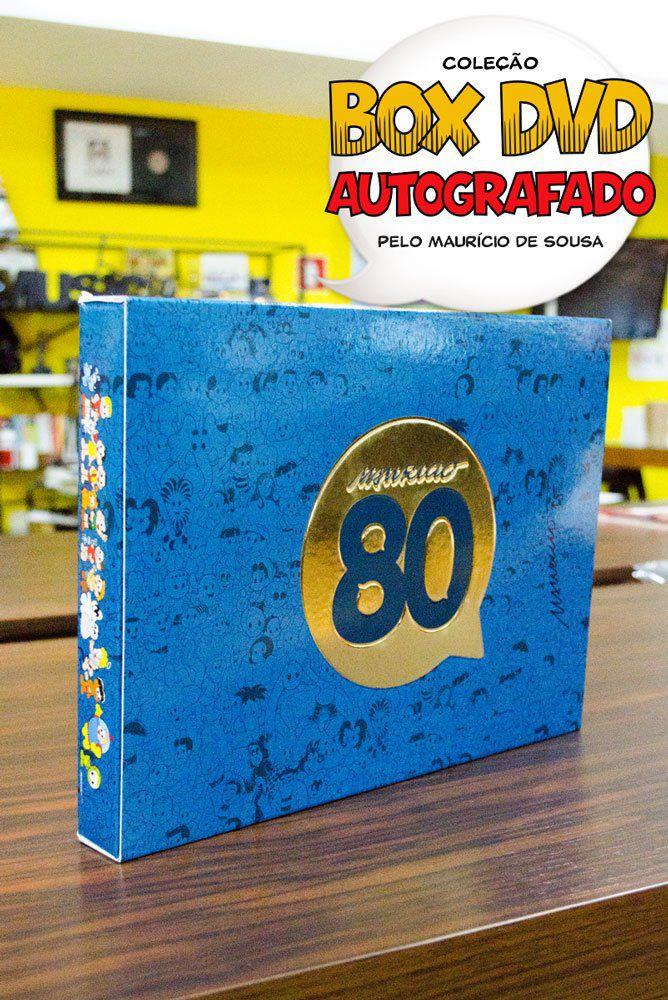 DVD Box AUTOGRAFADO Mauricio de Sousa 80 Anos